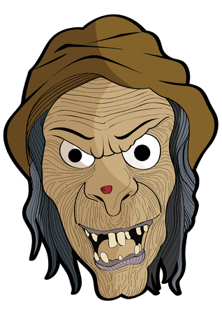 guise: vector  illustration  Graphic cartoon Ghost Halloween mask witch