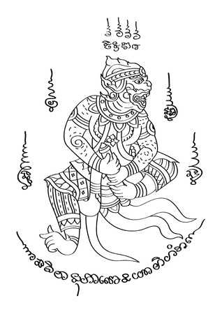 thai style: vector illustration  Graphic Tattoo Thai Style Thailand