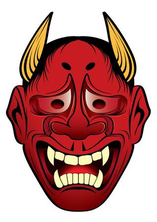 kabuki: vector illustration  Graphic Tattoo Japanese Style Japan kabuki Mask Illustration