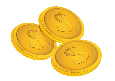 graphic illustration: vector illustration  Graphic gold coins