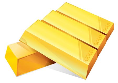 lingote oro: ilustraci�n vectorial Oro gr�fico lingote
