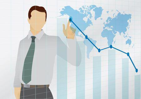 hustler: vector  illustration  Graphic graph business world chart