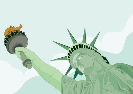 beauty queen: vector  illustration  Graphic  Statue of liberty establishment