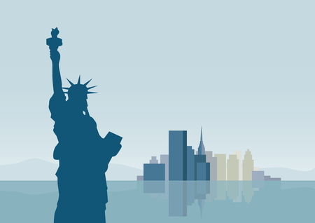 edifice: vector  illustration  Graphic building New York City background