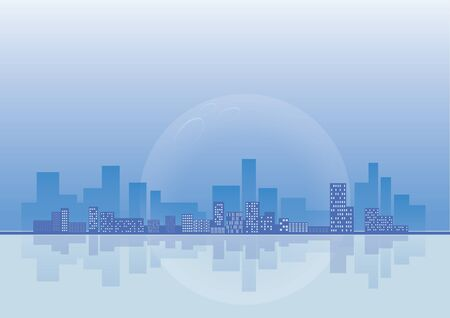 city background: vector  illustration graphic background City building