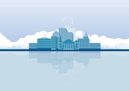 edifice: vector  illustration graphic background City building
