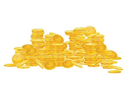 coins: vector  illustration graphic Gold Coins