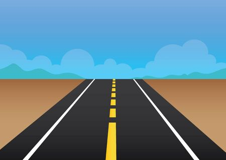 highroad: vector  illustration  Graphic  road way passage street background Illustration