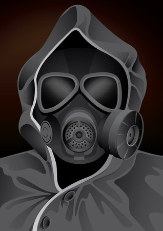 protective gas mask: vector illustration graphic Gas mask guard Costume Illustration