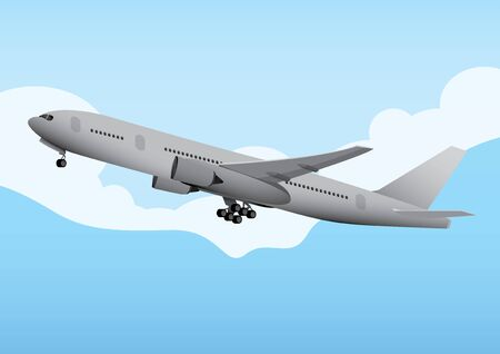 graphic illustration: vector  illustration  Graphic  Commercial Aircraft
