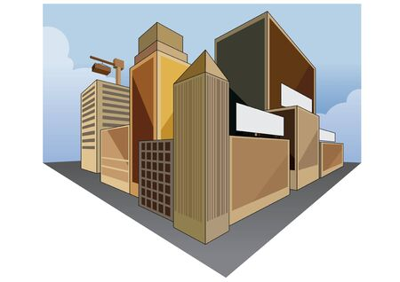 city building: vector  illustration graphic background City building