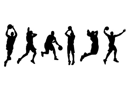vector  illustration graphic basketball Player Athlete background