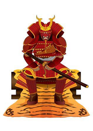 vector  illustration graphic samurai Japanese sword