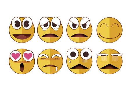 vector illustration graphic cartoon Emotion