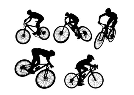 vector  illustration graphic bicycle background sport Ilustração