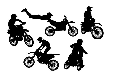 Vector Illustration Graphic Motocross Bikes Royalty Free Cliparts