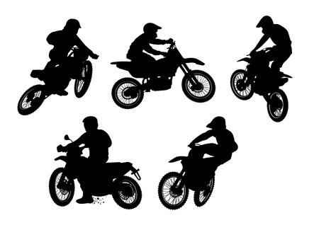 vector illustratie grafische crossmotoren