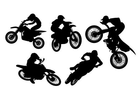 vector  illustration graphic motocross bikes