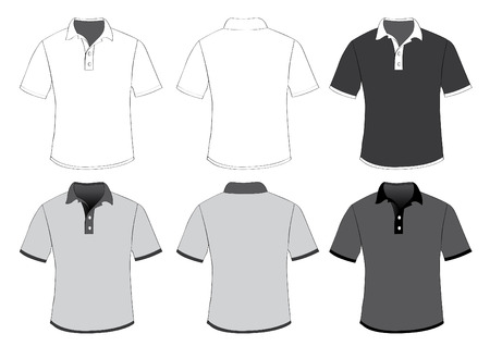vector  illustration graphic background polo shirts shirt