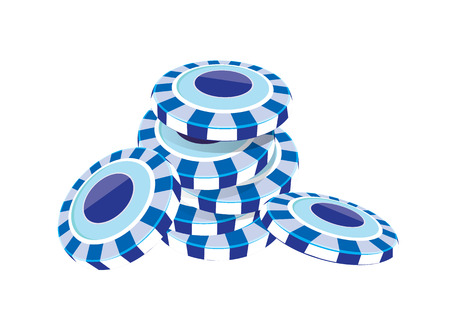 poker chip: vector  illustration graphic background poker chip Color blue Illustration