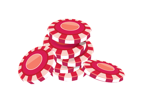vector  illustration graphic background poker chip Color Red