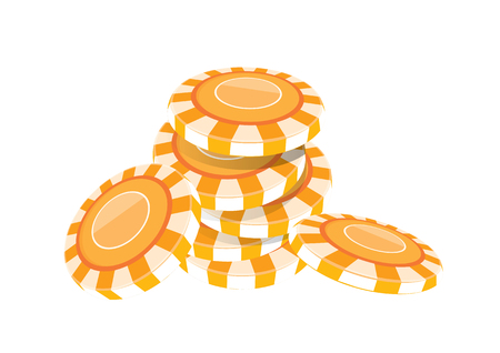 vector  illustration graphic background poker chip Color yellow