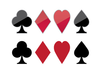 vector illustration graphic background poker Color Clubs card hearts diamonds spades