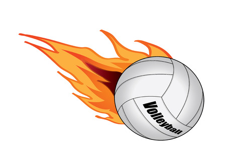 vector illustration graphic Volleyball  Equipment Sports fire Ilustração