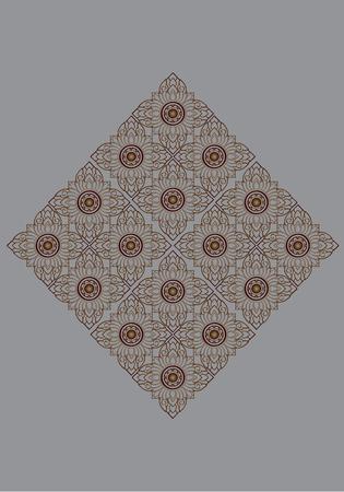 Vector illustration Thai Thailand Linethai ArtThai ThailandArt pattern