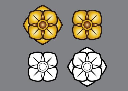 vector illustration Thai Thailand Linethai ArtThai ThailandArt pattern Flower