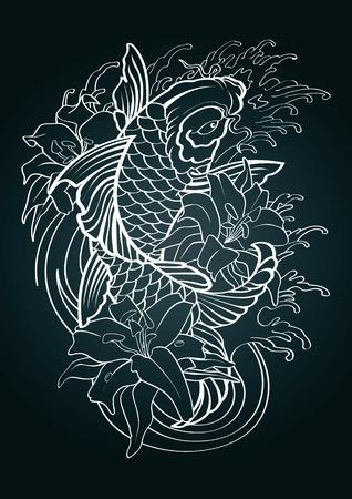 Koi fish vector illustration graphic