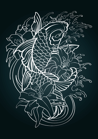 Koi fish vector illustration graphic