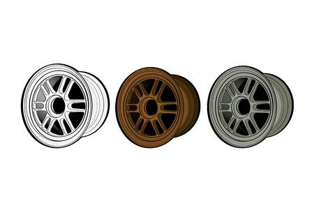 vector illustration graphic background MAX wheel equipment Car parts propel impel Drive run eject Ilustração