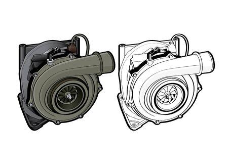 vector illustration graphic of Turbo Car Equipment