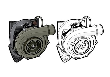 vector illustration graphic of Turbo Car Equipment