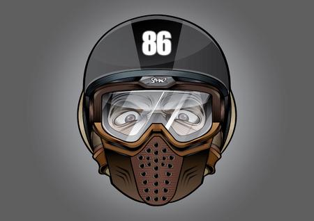 Vector illustration of antiknock helmet.