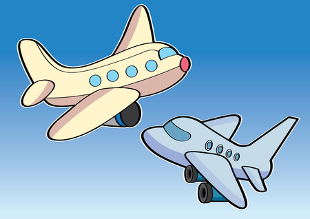 vector  illustration graphic background sky airplane aircraft aeroplane plane cartoon fly wing transport Passenger Travel journey trip