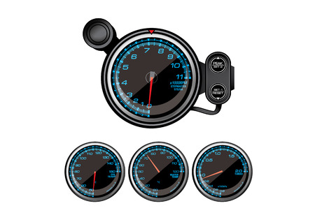 vector illustration graphic background Gauge rate measure scale Speedometer fast car swiftly Accessories Measure around turbo Water gauge Ilustração