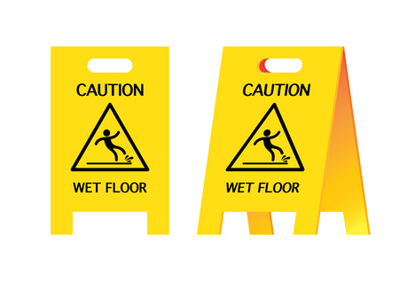 vector illustration graphic background Warning  wet floor Careful cautious warn caution label logo symbol