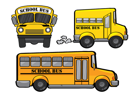vector illustration graphic background school bus Car Yellow student Transfer transport transporting Drive move