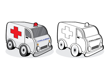 vector illustration graphic background black Car ambulance Emergency patient People hurt hospital infirmary Moving dynamic active
