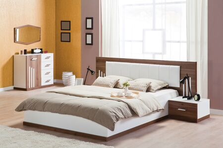 Bedroom interior in modern style Banque d'images