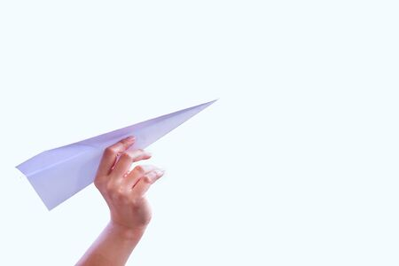 paper fold: Hand aircraft paper fold to success for design rocket paper.