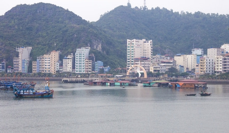 ba: The town on cat ba island, in Vietnam