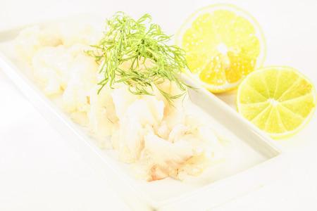 whitefish: Prickle raw white fish, isolated on white background Stock Photo