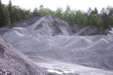 sandpit: Piles of sand, at a sandpit, in Finland