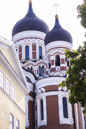 tallin: Old alexander nevsky, orthodox cathedral, in tallin estonia