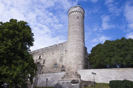 tallin: Toomplea castle and Long Hermann tower, in tallin, estonia