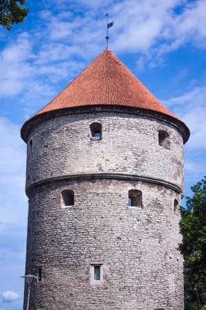 tallin: Middle age castle tower, in tallin, Estonia Editorial