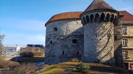 tallin: Stone castle Margaret tower, in tallin, estonia